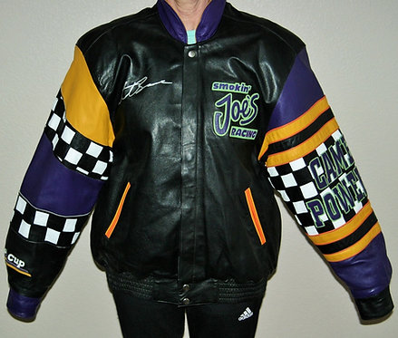 Never Worn SMOKIN JOE'S RACING LEATHER Jacket Jeff Hamilton Racing Collection