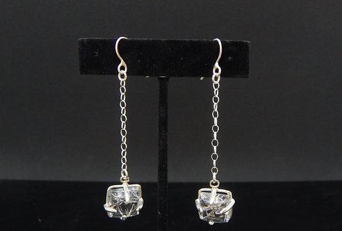 Tourmalinated Quartz Drop Earrings