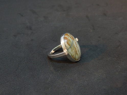 Sterling Silver and  Ring Jasper- Size 6.5