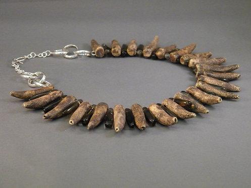 Sea Coral and Quartz Necklace
