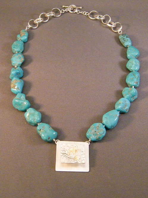 Turquoise Nugget Necklace #1