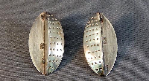Pierced Hollow Form Sterling Earrings