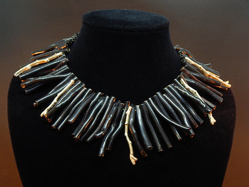 Black Stick Coral w/ Sterling Branches
