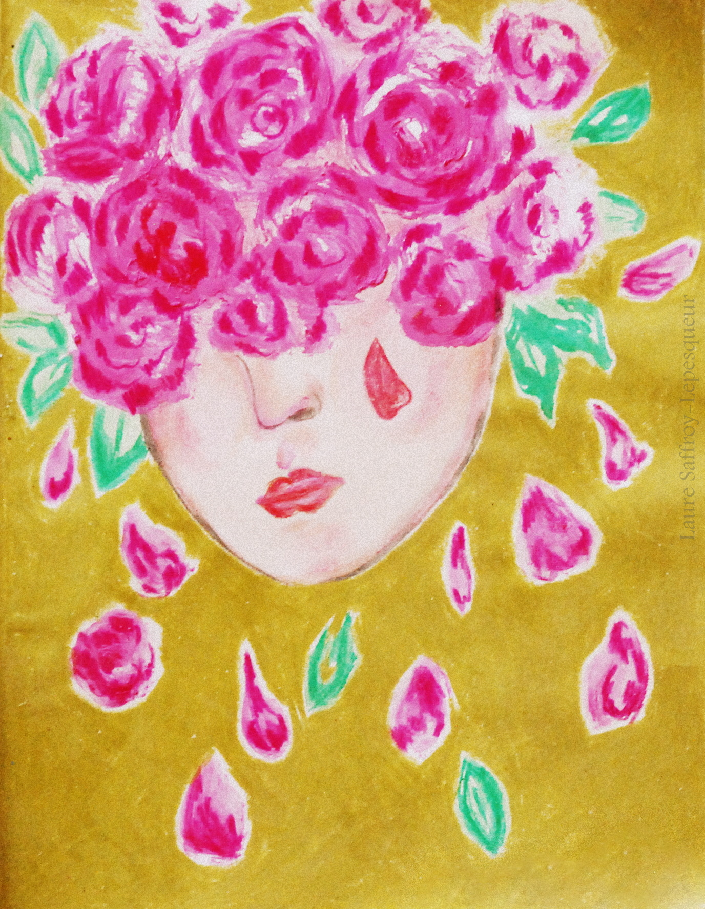 Rose en pleurs
