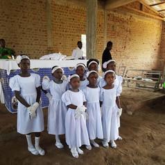 The dancers in church