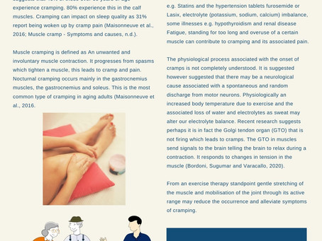 Newsletter - Muscle cramps & pain