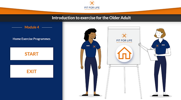 Fit For Life Remote E-Learning Course Module 4 example.