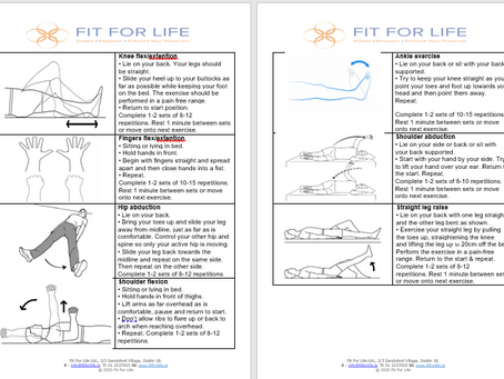 Fit For Life Exercise Newsletter!