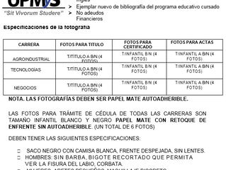 Requisitos para  Titulación