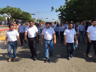 COMUNIDAD UPMYS PRESENTE EN DESFILE CONMEMORATIVO DE LA REVOLUCIÓN MEXICANA.