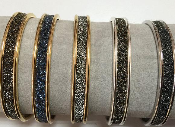 Bracelet Plaqué Or ou Plaqué Argent et Cristal de Swarovski