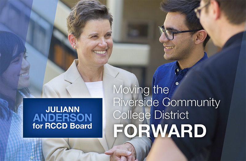 Juliann Anderson for RCCD Board 2014