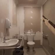 Banheiro Galeria (Louças e Iluminação)