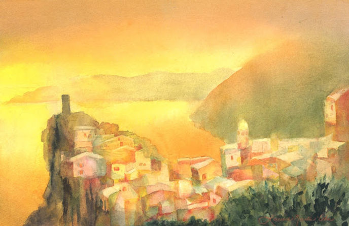 Vernazza, Cinque Terre Painting.jpg