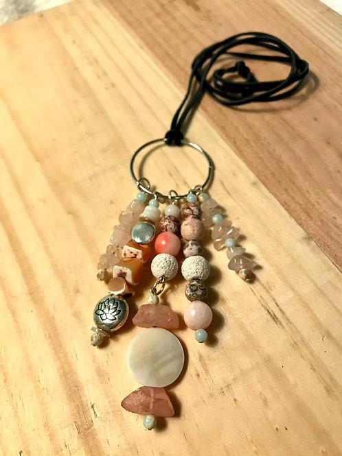 Pink Lotus Necklace