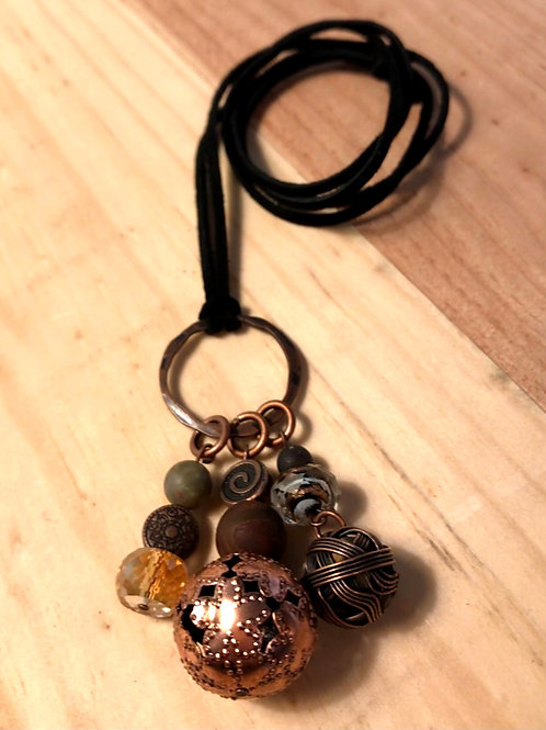 Copper Ball Necklace