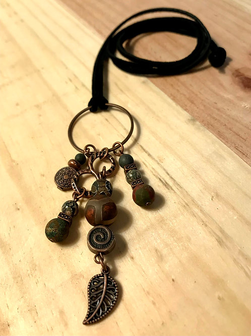 Swirly Leaf Necklace