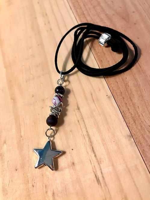 Purple Star Bookmark Necklace