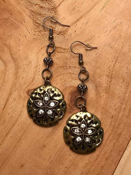 Antique Gold Star Earrings