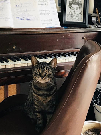 Elfrida, Maya, & Grandmother's Piano