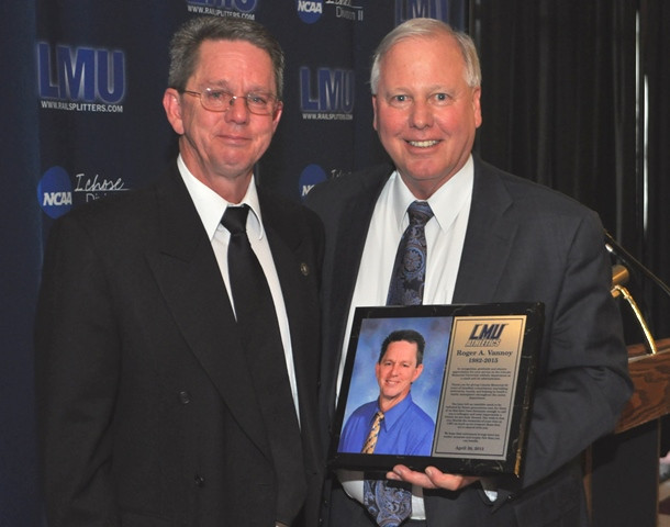 Roger A. Vannoy was presented a plaque for his years of service and loyalty to L