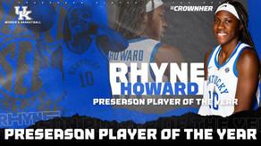 Rhyne Howard Named Preseason SEC Player of the Year