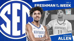 Dontaie Allen Named SEC Freshman of the Week