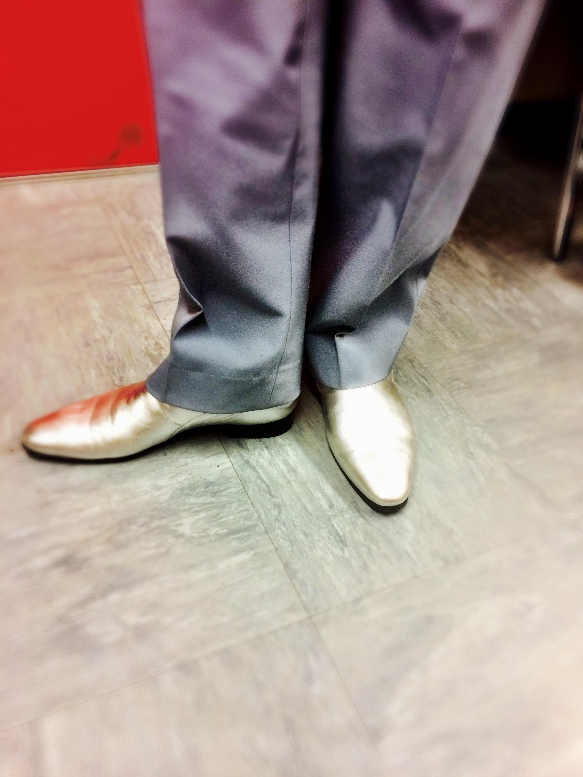 Jim's silver shoes