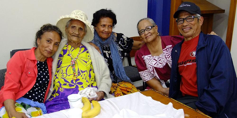98-year-old Lagimaina and family members.