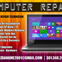 Doc's Computer Repair Flyer Front Side