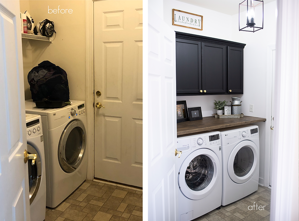 laundry room makeover interior design home decorating