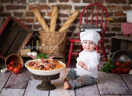 Chesapeake, Virginia Newborn and Baby Photographer {Harrison's Spaghetti Smash}