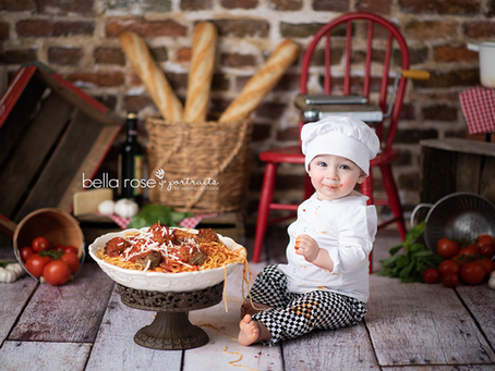 Chesapeake, Virginia Newborn and Baby Photographer {Harrison's Spaghetti Smash}