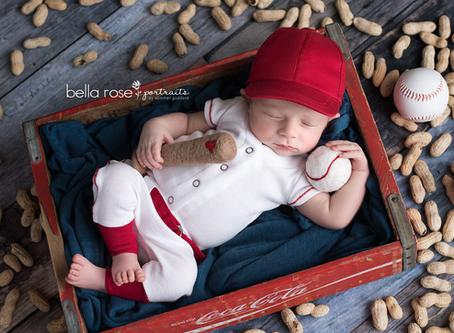 Chesapeake, Virginia Newborn and Baby Photographer {Harrison's Baseball Series and Cake Smash}