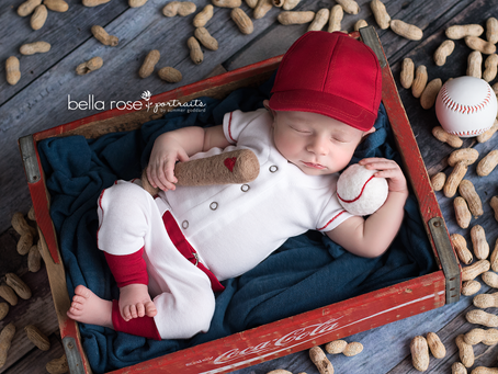 Chesapeake, Virginia Newborn and Baby Photographer {Harrison's Baseball Series and Cake Smash}