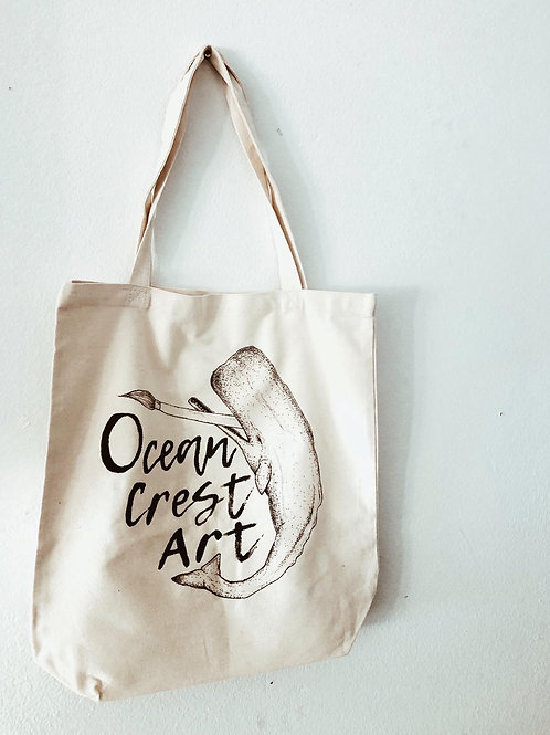 Handpainted Canvas Tote