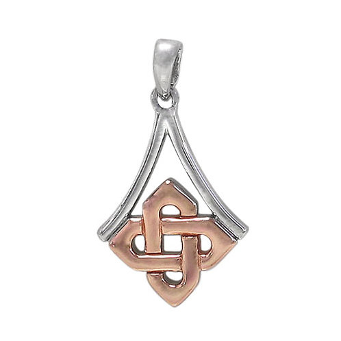 Sterling Silver with Gold Plating Celtic Knot Pendant