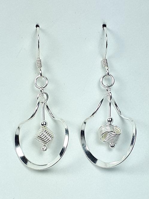 Sterling Silver Love Knot Dangle Earrings