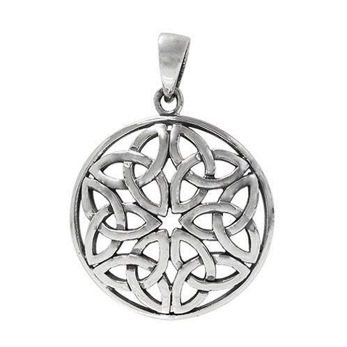 Sterling Silver Triquetra Knots Pendant