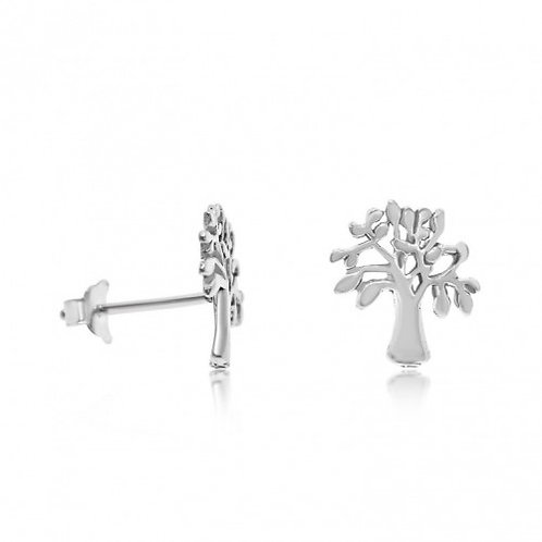 Sterling Silver Tree of Life Stud Earrings