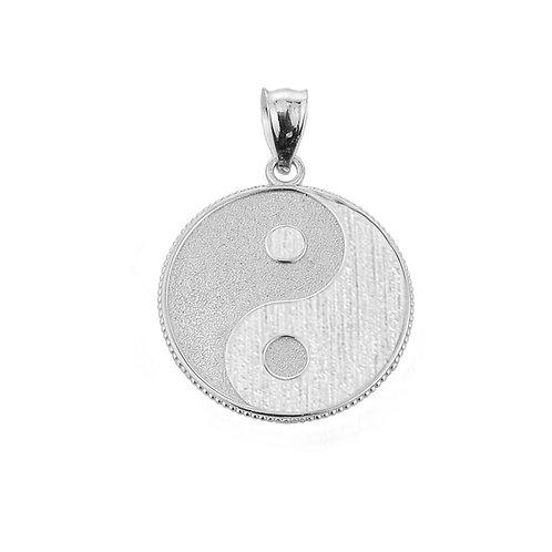 Sterling Silver Yin Yang Taoist Symbol Charm Pendant