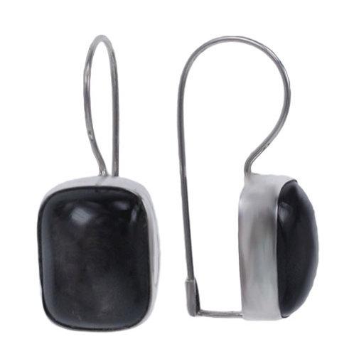 Sterling Silver Earrings with Hypersthene