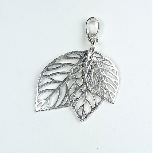 Sterling Silver Multi-Leaf Pendant