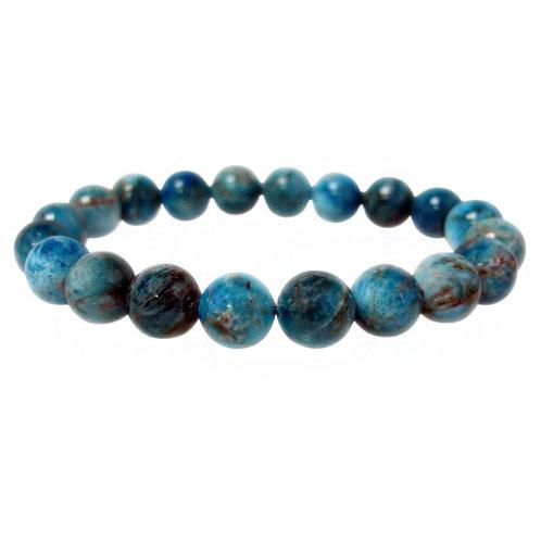 Blue Apatite 8mm Elastic Bracelet