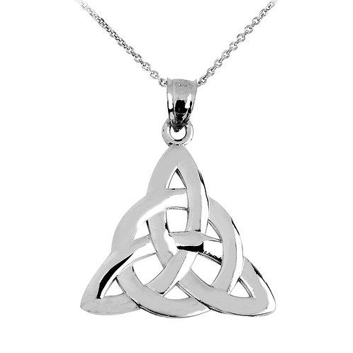 10K White Gold Trinity Knot Pendant