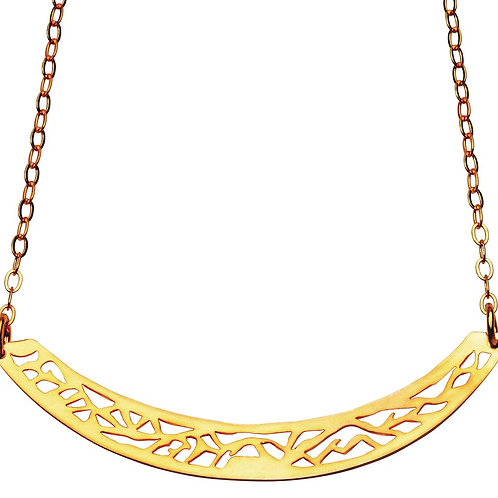 22K Yellow Gold Plated Resilience Necklace