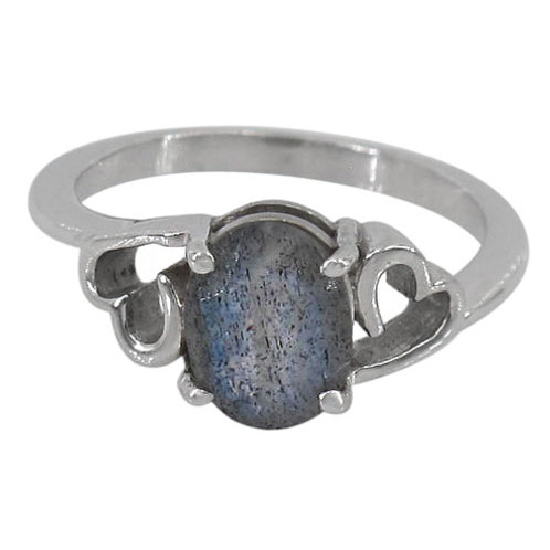 Sterling Silver with Labradorite & Heart Ring