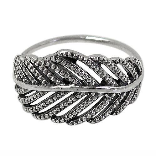 Sterling Silver Leaf Ring (Size 7)