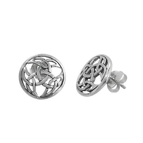 Sterling Silver Galway Knot Stud Earrings