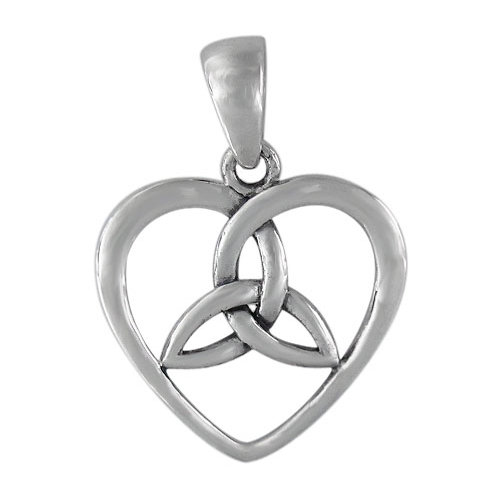 Sterling Silver Celtic Sisters Knot Pendant